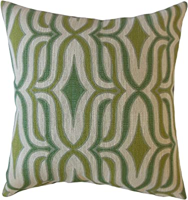 The Pillow Collection Thirza Swirls Throw Pillow Cover