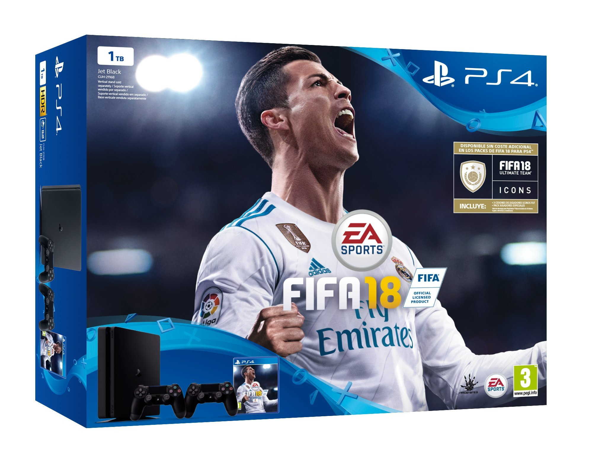 PlayStation 4 (PS4) - Consola de 1 TB, 2 Mandos Dualshock4 + ...