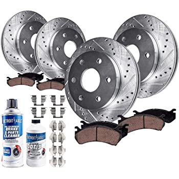 Max Brakes Front /& Rear Premium XD Rotors and Ceramic Pads Brake Kit KT014123-35