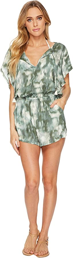 Lucky Brand Indian Summer Batwing Romper Cover-Up