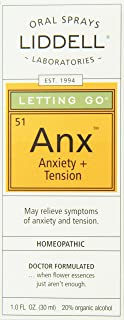 Liddell Homeopathic Letting Go Anxiety Spray, 1 Ounce