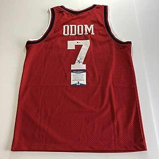 Autographed Lamar Odom Jersey - BAS Beckett - Beckett Authentication - Autographed NBA Jerseys