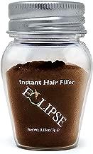 Eclipse Hair Building Fibers & Beard Filler - Instant Hair Fillers Thinning Hair, Beard & Partial Hair Loss – Suitable for All Hair Types - Hair Loss Concealer for Men & Women - 3 Gram - Light Brown