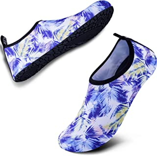 Womens and Mens Water Shoes Quick-Dry Aqua Socks Barefoot for Outdoor Beach Swim Surf Yoga Exercise SWS001
