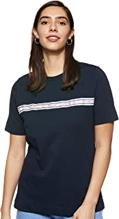 Tommy Hilfiger Women's Raven C-Neck Top Short Sleeve T-Shirt