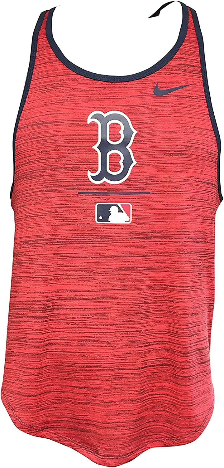 Nike Women's Boston Red Sox Tank Top 100% W AC Max 52% OFF Polyester Max 89% OFF MLB Vel