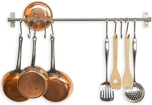 Stainless Steel Gourmet Kitchen Pot Rack Storage
