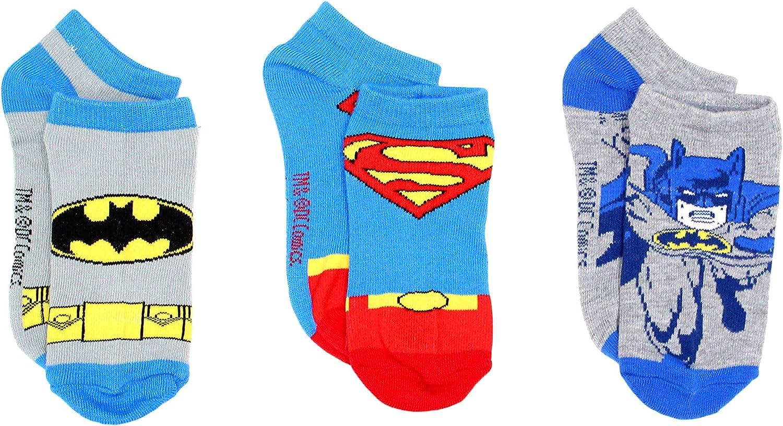 DC Comics Little Boys Justice League 3 Pack Ankle Socks
