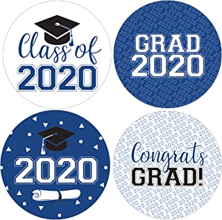 Class of 2020 Graduation Party Favor Labels, 1.75 in - 40 Stickers (Blue)