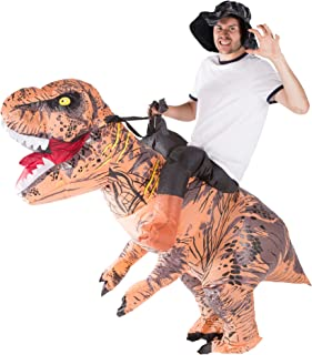 Adult Inflatable Deluxe Dinosaur Fancy Dress Costume