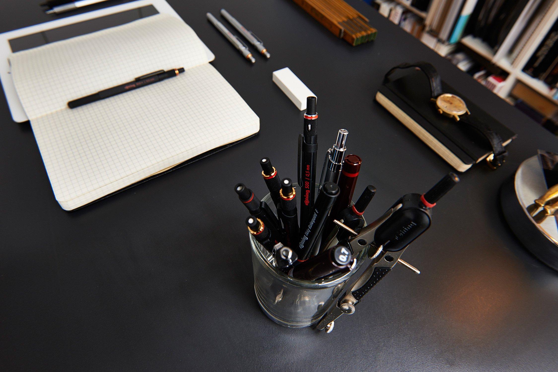 Rotring Tikky Graphic bolígrafo de punta fina, 0,20 mm, Color Negro: Amazon.es: Oficina y papelería