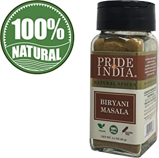 Pride Of India- Indian Biryani Masala Seasoning Spice, 2.4 oz(68gm) Dual Sifter Jar, Authentic Indian Seasoning Blend, Perfect for Biryani -BUY 1 GET 1 FREE (MIX AND MATCH - PROMO APPLIES AT CHECKOUT)