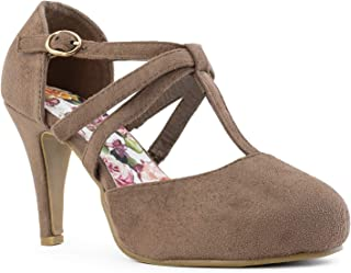 RF ROOM OF FASHION Womens Pumps Shoes Beige Size: 7