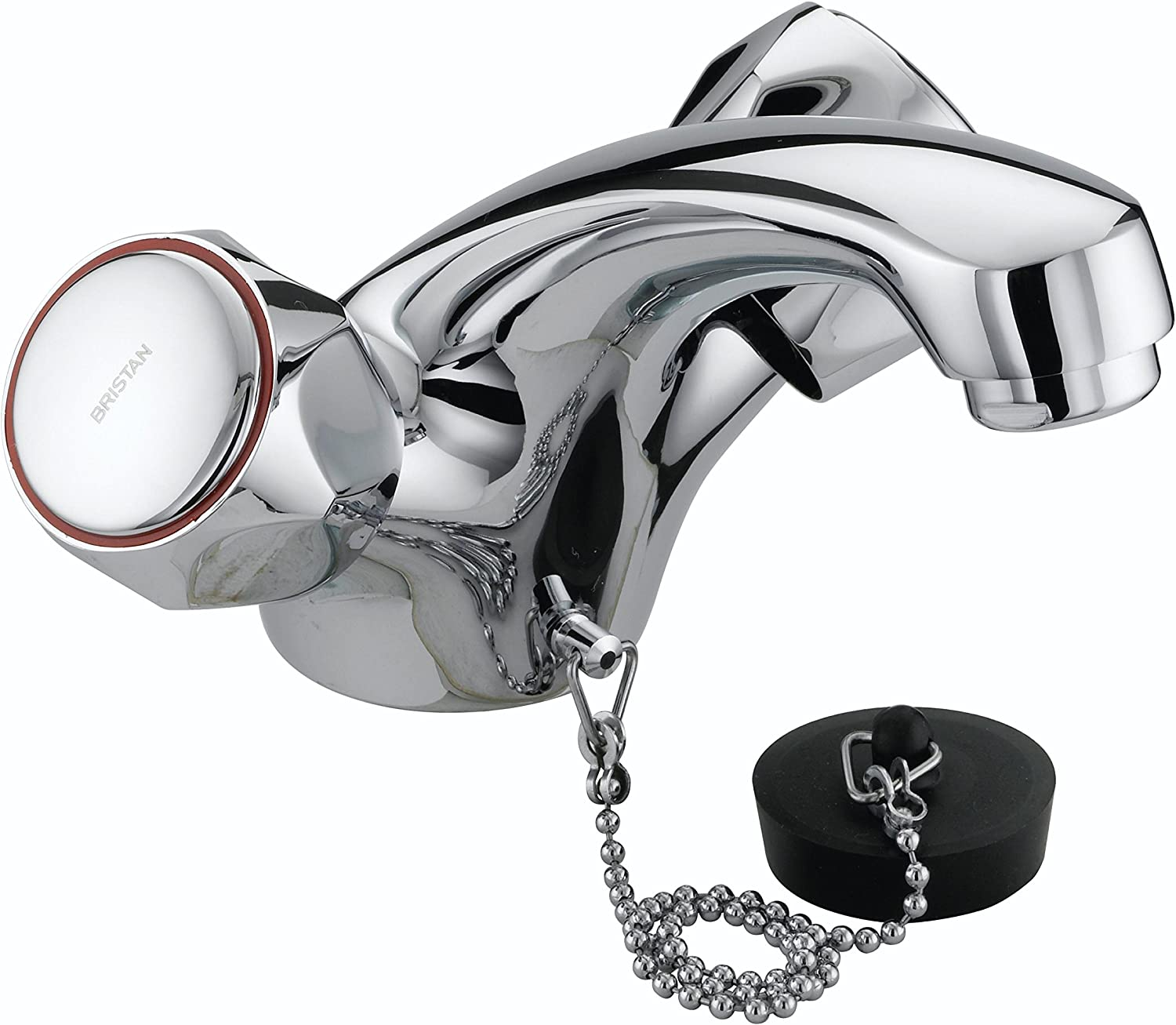 Bristan VAC BASNW C MT Club Mono Basin Mixer without Waste and Metal Heads - Chrome Plated