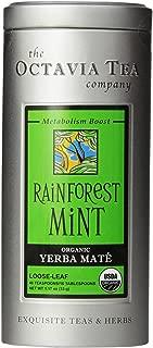 Octavia Tea Rainforest Mint (Organic Herbal Tea / Yerba Mate) Loose Tea, 1.17 Ounce Tin