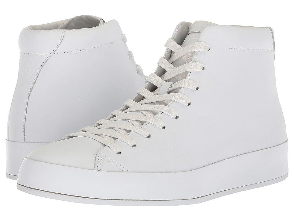 rag & bone RB1 High Top Sneakers (White Smooth Nappa) Men