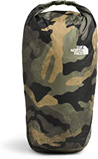 The North Face Flyweight ROLLTOP Casual Daypack, Burnt Olive Green Waxed Camo Print/Burnt Olive Green