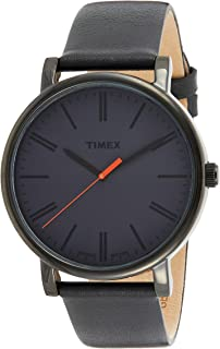 Timex Originals Oversized 42mm Leather Strap Watch For Men
