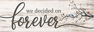 We Decided On Forever White Rustic Wood Wall Sign 6x18 (No Frame)