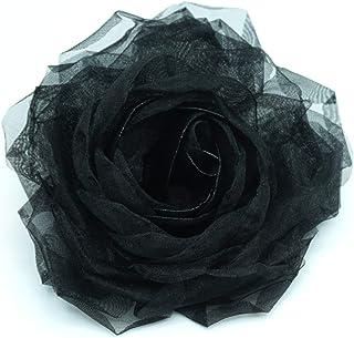 Lida Lydi - Spilla con fiore nero in organza