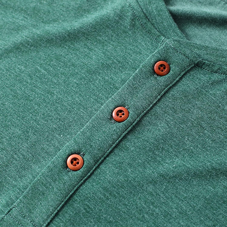 SAMACHICA Men Henley Shirts Classic Tees - Men's Short Sleeve Fashion Cotton Tee Casual Beach T Shirts with Button