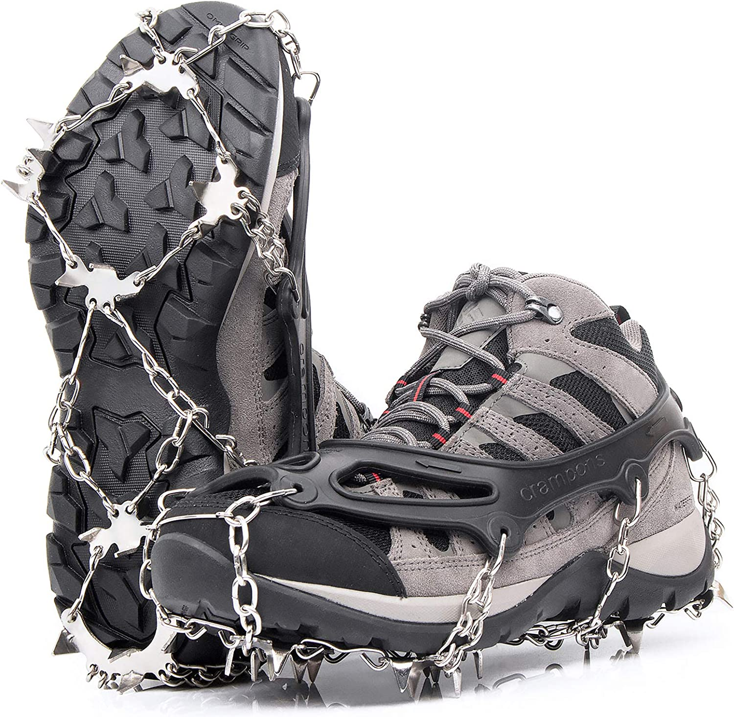 Greatever Detroit Mall Crampons for Hiking Boots Gr Cleats Traction Recommended Ice Snow