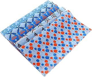 EXCEART 5 Peças de Tecido de Algodão de Natal Floral Floco de Neve Quadrado Tecido Pré-Cortado Patchwork Folha de Costura ...