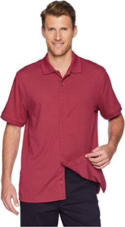 Classic Fit Ribbed Collar Knit Polo