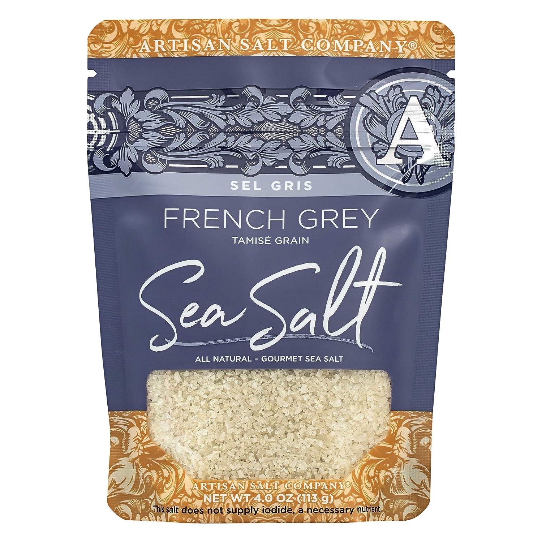 SaltWorks Hiwa Kai Black Hawaiian-style Sea Salt, Small Grain, Artisan Zip-Top Pouch, 4 Ounce : Grocery & Gourmet Food