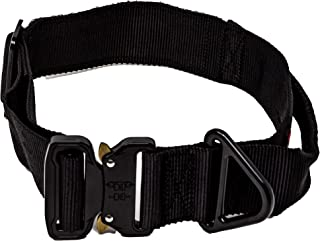 Verja Tactical Adjustable Dog Collar with Heavy Duty Metal Buckle for Medium & Large Dogs K9 Military Dog Training Collars...