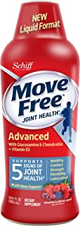Glucosamine & Chondroitin + D3 Advanced Joint Health Supplement Liquid, Move Free (30 Sevings Per Bottle), Supports Mobili...
