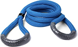 """7/8"""" X 30 FEET Ultimate Kinetic Recovery Rope (28,300 LB MTS, 9,000 LB WLL) Blue"""