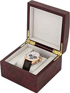 Single Watch Box 1 Extra Large Watch Wood Removable Cushion