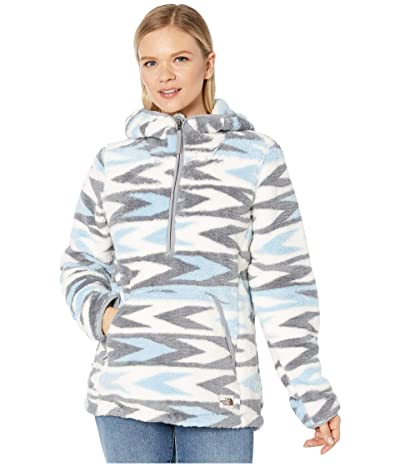 The North Face Campshire Pullover Hoodie 2.0 (Angel Falls Blue Arrow Stripe Print/Mid Grey) Women