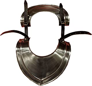 Collar Gorget in Steel with Paldron Straps