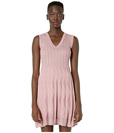 M Missoni Sleeveless Short Dress in Fit Flare (Pink) Women