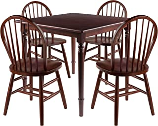 Mornay 5pc Set Dining Table with Windsor Chairs