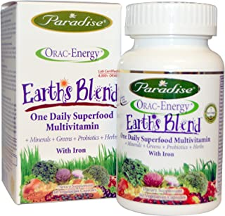 Orac Energy Earth's Blend with Iron Paradise Herbs 60 VCaps