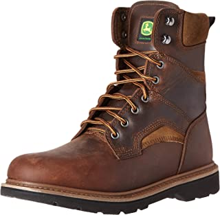 John Deere Men's 8-Inch Farm NST LU Work Boot