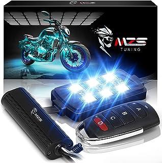 کنترلر از راه دور بی سیم کابل نوری چند رنگی نئون RGB نوار چند رنگی MZS برای ATV UTV Cruiser Harley Davidson Ducati Suzuki Honda Triumph BMW Kawasaki Yamaha (بسته 8)