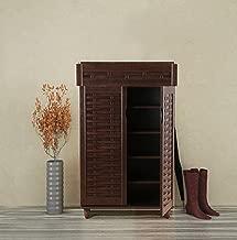 HomeTown Alton Engineered Wood Shoe Storage Rack in Wenge Color