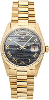 Rolex Day-Date Mechanical (Automatic) Black Dial Mens Watch 18038 (Certified Pre-Owned)