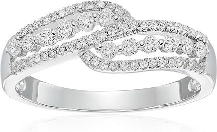 14k White Gold Diamond Ring (1/3cttw, I-J Color, I2-I3 Clarity), Size 7