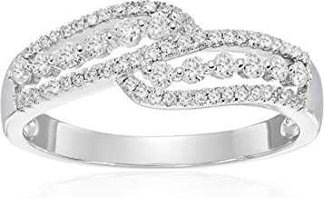 14k White Gold Diamond Ring (1/3cttw, I-J Color, I2-I3 Clarity), Size 7