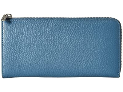 ECCO SP 3 Zip Around Wallet (Retro Blue) Wallet Handbags