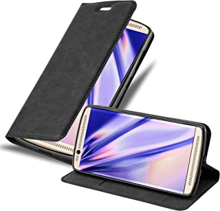Cadorabo Book Case Works with ZTE AXON 7 Mini in Night Black – with Magnetic Closure, Stand Function and Card Slot – Wallet Etui Cover Pouch PU Leather Flip