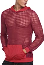 COOFANDY Mens Workout Tank Fishnet Muscle See Through T Shirt Sexy Mesh Transparent Tees Top