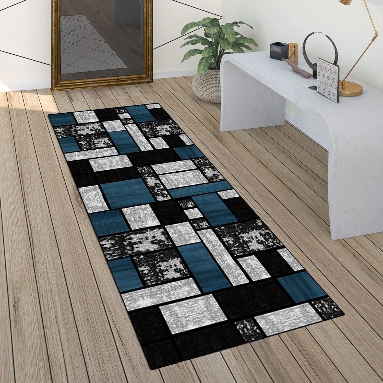 Carpet Runner Rug Hallway Max 41% OFF Kitchen Non Slip Washable Max 40% OFF Bla Gray and