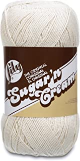 Lily Sugar 'N Cream Big Ball Solids Yarn, Gauge 4 Medium Worsted, 100% Cotton - 14 oz - Off White - Machine Wash & Dry