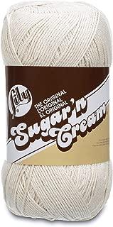 Lily Sugar 'N Cream Big Ball Solids Yarn - (4) Medium Worsted Gauge 100% Cotton - 14 oz -   Off White  -  Machine Wash & Dry